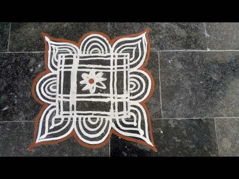 Video 15 | Wet Rice Flour Rangoli | Simple Arisi Maavu Kolam download in MP3, 3GP, MP4, WEBM, AVI, FLV January 2017