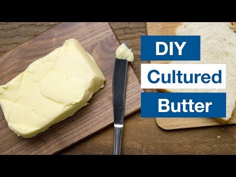 🔵 How To Make Cultured Butter And Buttermilk Recipe || Glen & Friends Cooking