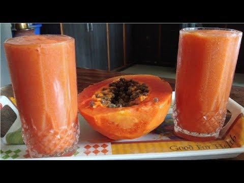 Papaya Juice   Summer special drinks   Jil Jil Juice   Summer Special Recipes   papali juice
