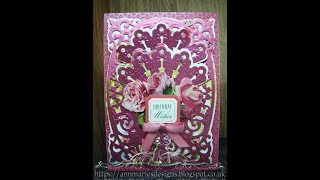 488. Cardmaking Tutorial: Anna Griffin Mini Fan Satin Card - with the Pineapple inside!!