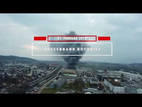 Grossbrand in Rothrist: Grossaufgebot der Feuerweh ...
