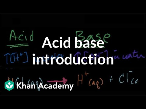 Chemistry: Acids and bases