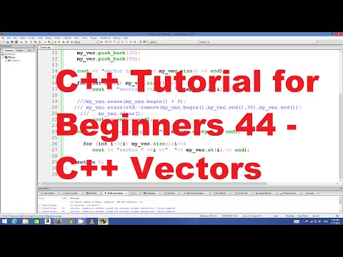 C++ Tutorial for Beginners 44 - C++ Vectors