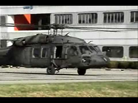 Two UH-60 Black Hawks , two SH-60...