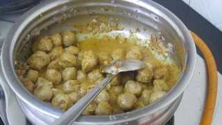 soya chunk masala recipe in Tamil ( English subtitle )