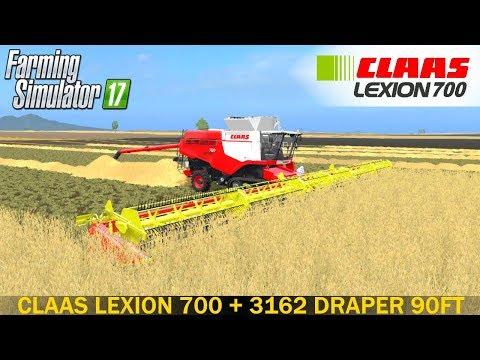 Lexion 700 + 3162 Draper 90FT Combi v1.0