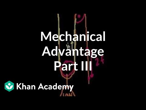 mechanical - Learn more: http://www.khanacademy.org/video?v=vSsK7Rfa3yA Introduction to pulleys and wedges.