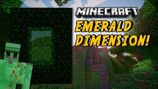 Minecraft Mods - EMERALD DIMENSION (New Mobs, Biomes, Items!) - Emerald Block Dimension Mod