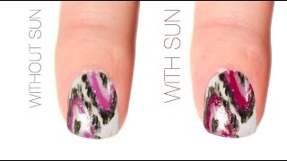 Ikat Color-Changing Nail Art Design