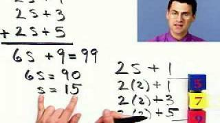 Solving For Consecutive Numbers From Thinkwell College Algebra