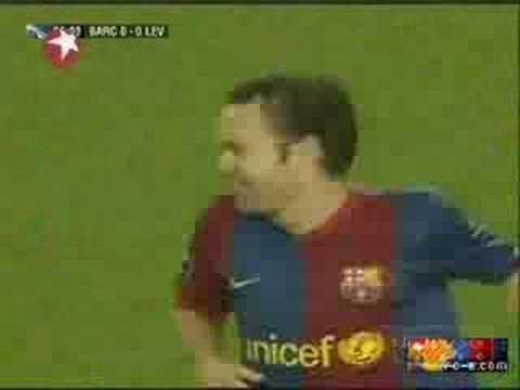 Iniesta en el Barça