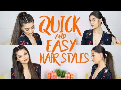 QUICK AND EASY HAIRSTYLES TO KEEP YOUR HAIR OFF YOUR FACE!