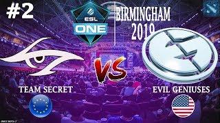 Secret vs EG #2 (BO2) ESL One Birmingham 2019