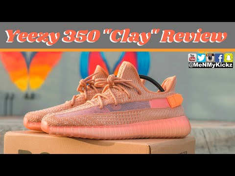 """Adidas Yeezy 350 V2 """"Clay"""" Review + On Foot · Creamsicle YZY On Feet видео"""