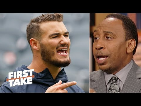 Stephen A. laughs at the Bears for passing up Pat Mahomes to draft Mitchell Trubisky | First Take