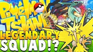 ULTIMATE LEGENDARY SQUAD - Minecraft PIXELMON ISLAND - Pokemon QUESTS