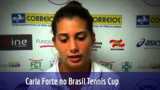 Carla Forte analisa participação nas duplas do Brasil Tennis Cup