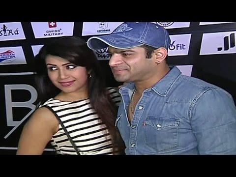 Karan Patel & wife Ankita Bhargava at Anita Hassan