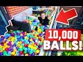 TURNING MY BALCONY INTO A BALL PIT (10,000 BALLS)