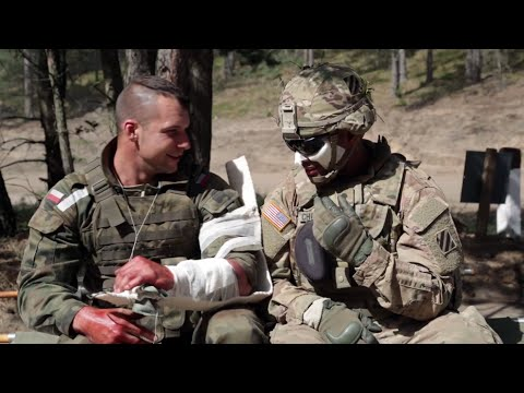 Treating the battlefield wounded on Exercise Anakonda