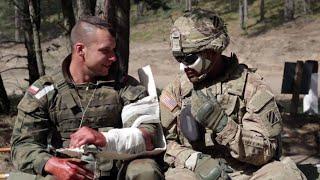 Miroslawiec Poland  city photo : Treating the battlefield wounded on Exercise Anakonda