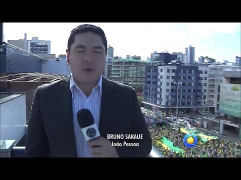 [HD] Boletim dos Protestos em João Pessoa com Bruno Sakaue - 13/03/2016 | TV Cabo Branco
