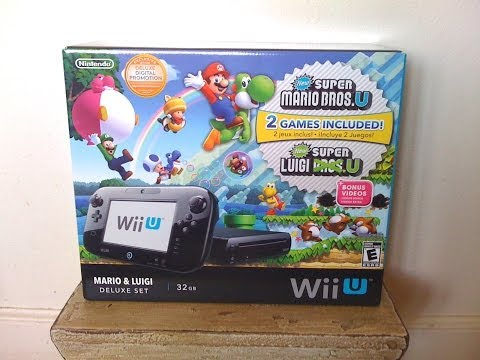 Nintendo Wii U Mario And Luigi 32GB Unboxing