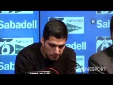 Video: Barcelona striker Luis Suarez moved to tears after meeting ill fan
