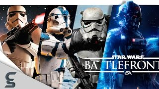 Pre Order Battlefront 2 HERE! (Amazon Affiliate Link): Standard Edition: http://amzn.to/2o28ueSDeluxe Edition: http://amzn.to/2oqWor8Subscribe ► http://goo.gl/xKYEGTStar Wars Battlefront has been one of the greatest multiplayer games since 2004. Unfortunately, Battlefront was discontinued after its second release in 2005 but was bought back from it's grave by EA in 2015. Battlefront has now a lifespan of 13 years with it's latest release - Star Wars Battlefront II (2) (2017). This video will show you the graphical evolution of Star Wars Battlefront from the years 2004 - 2017 while showing you amazing facts that you probably didn't know about! Like, Share, and Subscribe if you enjoyed this video and make sure to leave a comment! ENJOY!--------------------------------------------------------------------------------------------------------------Luke Skywalker has vanished. In his absence, the sinister FIRST ORDER has risen from the ashes of the Empire and will not rest until Skywalker, the last Jedi, has been destroyed.With the support of the REPUBLIC, General Leia Organa leads a brave RESISTANCE. She is desperate to find her brother Luke and gain his help in restoring peace and justice to the galaxy.Leia has sent her most daring pilot on a secret mission to Jakku, where an old ally has discovered a clue to Luke's whereabouts…--------------------------------------------------------------------------------------------------------------Music:Join Millions and Try Amazon Music Unlimited Free for 30 Days: http://amzn.to/2pN82OOTrack 1: https://youtu.be/JeMgZPrIj3sTrack 2: https://youtu.be/zKLvCERsrd0--------------------------------------------------------------------------------------------------------------►Like me on Facebook: ► http://goo.gl/vWU6N8►Follow me on Twitter: ► https://twitter.com/ClickSelect--------------------------------------------------------------------------------------------------------------Video Game Consoles:PCPlaystation 2Playstation 4Xbox oneVide