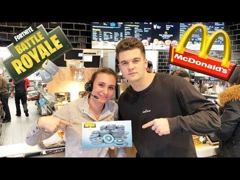 McDonalds PRANK   MIT V-BUCKS VON FORTNITE BEZAHLEN