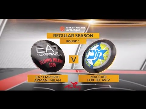 EuroLeague Highlights RS01: EA7 Emporio Armani Milan 99-97 Maccabi FOX Tel Aviv