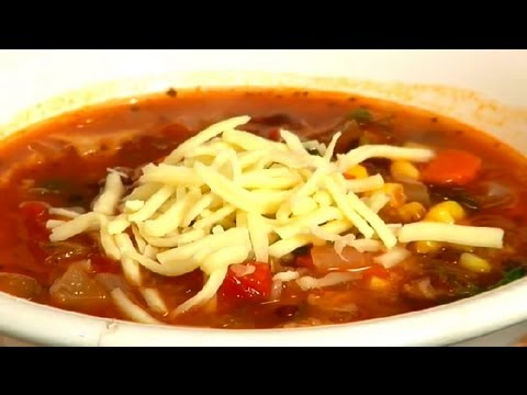 Vegetarian Tortilla Soup Recipe : Soup Recipes