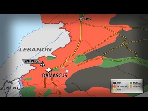 9 января 2017. Военная обстановка в Сирии. Боевики сдаются в Вади Барада. Русский перевод. (видео)