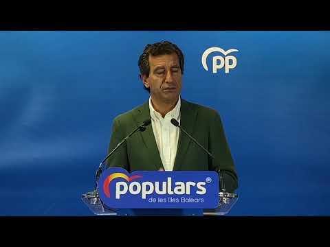 """Company: """"Armengol no puede seguir coartando la libertad de los ciudadanos de Baleares"""""""