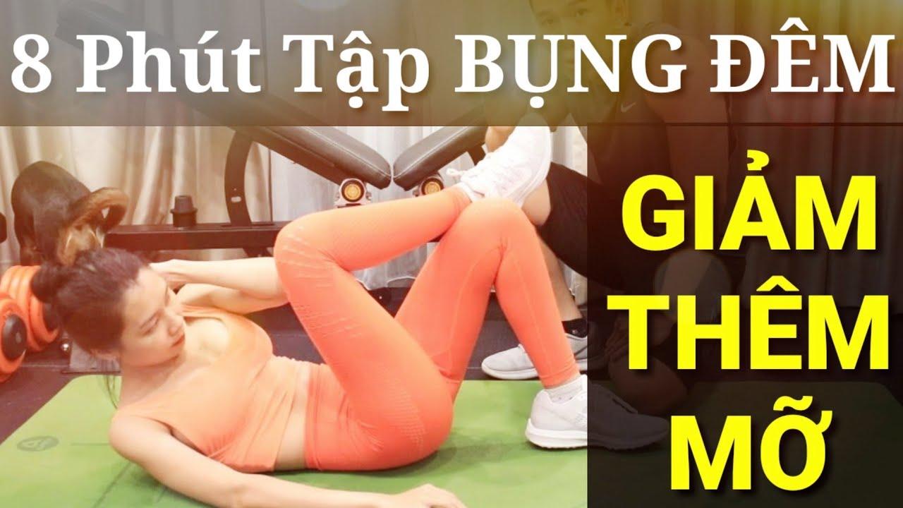Đêm Tập Gì Giảm Mỡ Bụng Trong 8 Phút - Junie HLV Ryan Long Fitness - YouTube