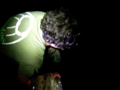 Shatterford 2009 Day3/4 Sam Returning his 41lb 8oz Catfish