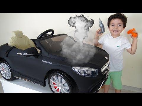 Yusuf'un Akülü Arabası Bozuldu!! Eğlenceli Çocuk Videoları