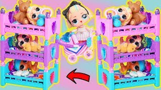 Video Slumber Party in LOL Surprise Dolls Custom Triple Bunk Beds for Barbie Bedtime Routine MP3, 3GP, MP4, WEBM, AVI, FLV Desember 2018