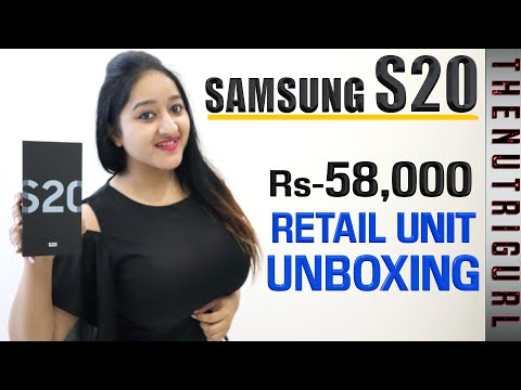 Samsung Galaxy S20 - Unboxing & Overview in HINDI (Retail Unit)