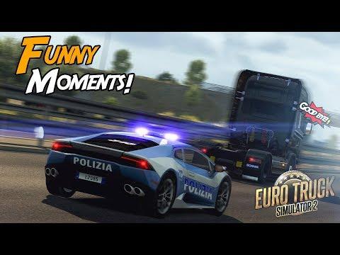 Euro Truck Simulator 2 Multiplayer Funny Moments & Crash Compilation #87 (видео)