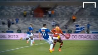 Everton Ribeiro recreates Paul Gascoigne's famous strike against Scotland during Cruzerio's Copa do Brasil match with Flamengo. Bookmark: ...