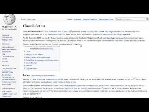 Youtube: WikiLeseTrends - Der Aufreger Weihnachten 2018: Claas Relotius (von Benjamin Erhardt)