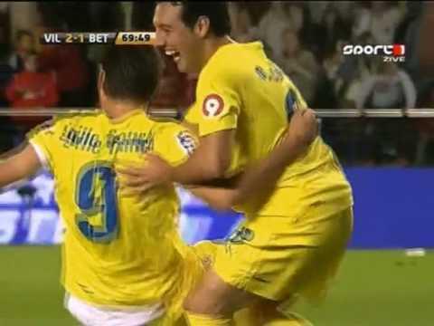 Villarreal CF vs Real Betis 2-1 La-Liga 08/2009 Joseba Llorente (min 70)
