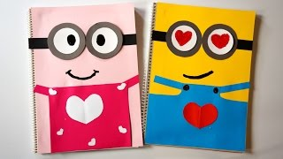 Welcome! Thank You for watching! we hope you enjoyed!How to make LOVE Minions Couple notebook covers? Please Sub & LIKE!!!