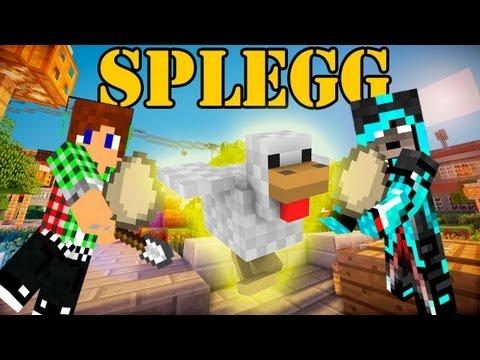 【Minecraft】Spleggミニゲーム!☆卵で敵を落とせ☆