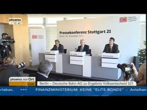 Pressekonferenz von Bahn-Chef Rüdiger Grube zu Stuttgart 21