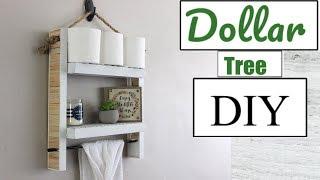 DOLLAR TREE DIY| HANGING BATHROOM SHELF| BATHROOM DECOR 2018