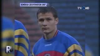 Romanian anthem and team in a World Cup'98 qualifier game in Bucharest Credits to REPLAY (TVR)