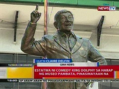 BT: Estatwa ni comedy  king Dolphy sa harap ng Museo Pambata, pinasinayaan na