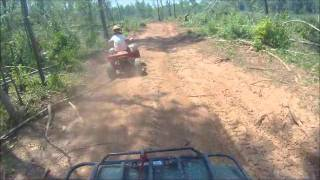 3. Kawasaki Prairie 360 4x4 and TRX 90 riding (Part 2)